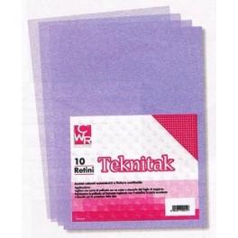 Retini Teknitak conf. 10 f. acetati colorati autoadesivi